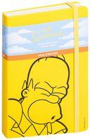 """Записная книжка Молескин """"The Simpsons"""" в линейку (большая; твердая желтая обложка)"""