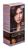 """Крем-краска для волос """"Gloris"""" (тон: 2.1, черный шоколад; 2 шт.)"""