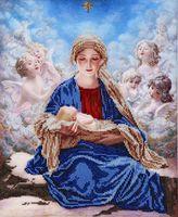 """Вышивка бисером """"Богородица с ангелами"""""""