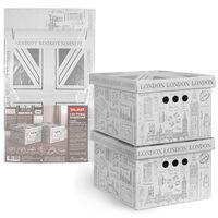 """Набор коробок складных """"London"""" (2 шт.; 250х330х185 мм)"""
