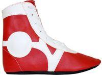 Обувь для самбо SM-0102 (р.32; кожа; красная)