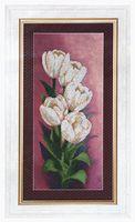 """Вышивка бисером """"Белоснежные тюльпаны"""" (160х365 мм)"""