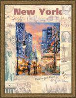 """Вышивка крестом """"Города мира. Нью-Йорк"""""""