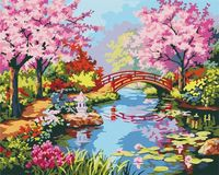 "Картина по номерам ""Вишни в цвету"" (400x500 мм; арт. MG190)"