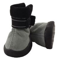 Ботинки (4х4х5,5 см; серые)