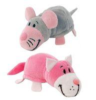 """Мягкая игрушка """"Вывернушка. Розовый кот-мышь"""" (12 см)"""