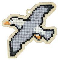 "Алмазная вышивка-мозаика ""Брелок. Чайка"" (87х90 мм)"