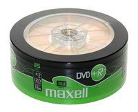 Диск DVD+R 4.7Gb 16x Maxell Bulk 25