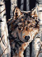 """Картина по номерам """"Волк"""" (400х500 мм)"""