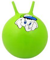 """Мяч-попрыгун """"Слонёнок"""" (45 см; с рожками; зелёный)"""
