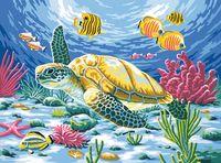 """Картина по номерам """"Обитатели морских глубин"""" (300х400 мм)"""
