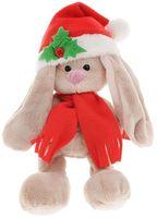 """Мягкая игрушка """"Зайка Ми малыш в красном колпачке и шарфе"""" (15 см)"""