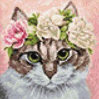 """Алмазная вышивка-мозаика """"Мартовский кот"""" (200х200 мм)"""