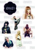 """Набор наклеек №217 """"2NE1"""""""