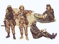 """Набор миниатюр """"Американские танкисты"""" (масштаб: 1/35)"""