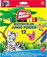 """Акварельные карандаши """"Artberry. Jumbo"""" (12 цветов; с точилкой и кисточкой)"""