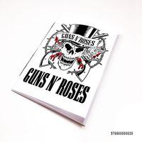 """Блокнот белый """"Guns and Roses"""" А7 (028)"""