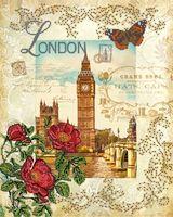 """Вышивка бисером """"Вокруг света. Лондон"""" (400х320 мм)"""