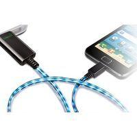 Кабель-зарядка Micro USB Visible Green для HTC, Samsung Galaxy S1/S2 (Black)