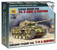 "Немецкий средний танк Pz.V Ausf. A Panther (T-V A ""Пантера"") (масштаб: 1/100)"
