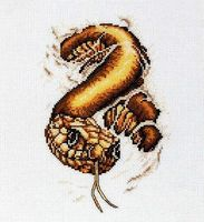 "Вышивка крестом ""Змея"" (130х200 мм)"