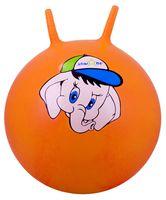 """Мяч-попрыгун """"Слонёнок"""" (45 см; с рожками; оранжевый)"""