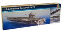 """Сборная модель """"Американский авианосец U.S.S. Roosevelt CVN-71"""" (масштаб: 1/72)"""