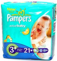 "���������� ""Pampers Active Baby Midi Plus"" (5-10 ��, 21 ��.)"