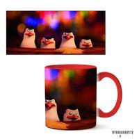 "Кружка ""Пингвины из Мадагаскара"" (572, красная)"