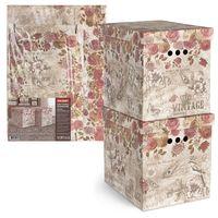 """Набор коробок складных """"Vintage. Flowers"""" (2 шт.; 280х380х315 мм)"""