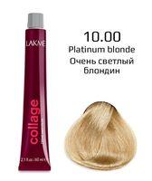 """Крем-краска для волос """"Collage Creme Hair Color"""" (тон: 10/00, очень светлый блондин)"""