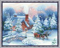 "Вышивка крестом ""Накануне Рождества"" (450х350 мм)"