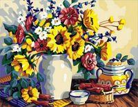 "Картина по номерам ""Натюрморт с летними цветами"" (400х500 мм)"