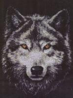 """Вышивка крестом """"Взгляд волка"""""""