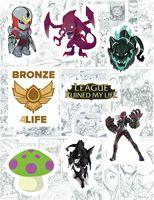 """Набор виниловых наклеек №121 """"League of Legends"""""""