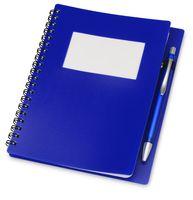 """Блокнот А5 """"Контакт"""" с ручкой (синий)"""