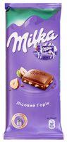 "Шоколад молочный ""Milka. Лесной орех"" (90 г)"