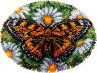 """Вышивка в ковровой технике """"Коврик. Бабочка"""""""