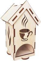 "Заготовка деревянная ""Чайный домик с узором. Чашка"" (90х80х170 мм)"