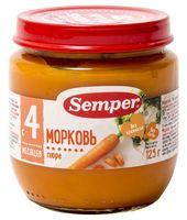 """Детское пюре Semper """"Морковь"""" (125 г)"""