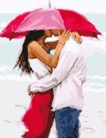 """Картина по номерам """"Зонт на двоих"""" (400х500 мм)"""