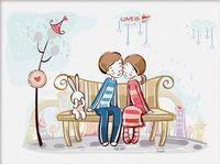 """Картина по номерам """"Любовь это..."""" (300x400 мм; арт. ME001)"""