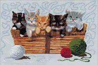 """Вышивка крестом """"Котята"""" (400x265 мм)"""
