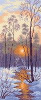 "Канва с нанесенным рисунком ""Зимний закат"""
