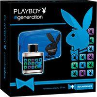 """Подарочный набор """"PLAYBOY. Generation"""" (туалетная вода, косметичка)"""