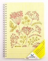 "Тетрадь нелинованная ""Delicate Flowers"" (72 листа; желтая)"