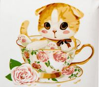 "Картина по номерам ""Котенок в чашке №4"" (250x250 мм; арт. MB061)"