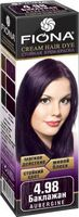 "Крем-краска для волос ""Fiona"" (тон: 4.98, баклажан)"