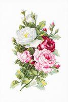 "Вышивка крестом ""Букет из роз"" (215х335 мм)"