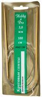 Спицы для вязания круговые (бамбук/пластик; 3 мм)